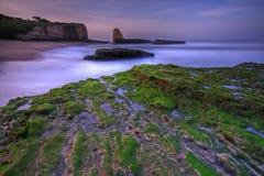 Alba su una spiaggia da quattro miglia Fotografia Stock Libera da Diritti