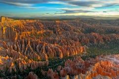 Alba sul canyon di Bryce Immagine Stock Libera da Diritti