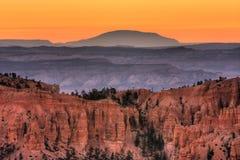 Alba sul canyon di Bryce Fotografia Stock
