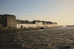 Alba sul fiume Corrib Fotografia Stock