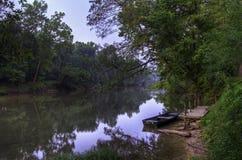 Alba sul fiume di Meramec Immagini Stock