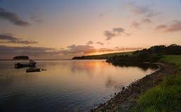 Alba sul fiume Illawarra NSW Australia di Minnamurra Fotografie Stock Libere da Diritti