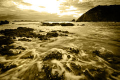 Alba sul litorale Immagine Stock Libera da Diritti