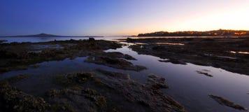 Alba sul litorale Fotografie Stock Libere da Diritti