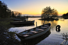 Alba sul Lough Ennell Fotografia Stock