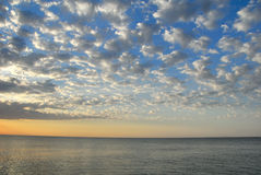 Alba sul mare Immagine Stock Libera da Diritti