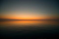 Alba sul mare Fotografia Stock