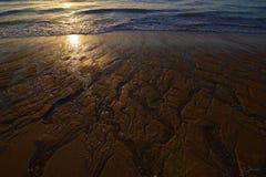 Alba sul mare di Cortes fotografia stock libera da diritti