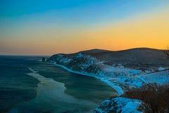 Alba sul mare di Giappone Fotografia Stock Libera da Diritti
