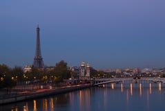 Alba sul Seine fotografia stock libera da diritti