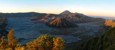 Alba sul vulcano di Bromo in Java Immagine Stock Libera da Diritti