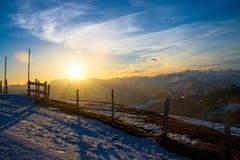 Alba sull'alpe di Rigi, Svizzera Fotografia Stock Libera da Diritti
