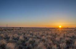 Alba sull'alta gamma del deserto di AZ nordico Immagine Stock