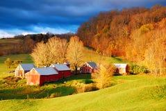 Alba sull'azienda agricola Fotografia Stock