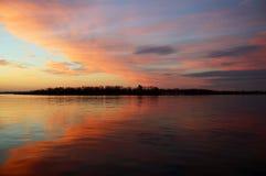 Alba sull'isola di Toronto Fotografia Stock Libera da Diritti
