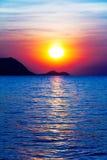 Alba sull'oceano Fotografie Stock