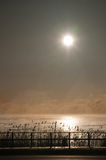 Alba sulla baia di Tawas Immagine Stock