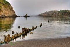 Alba sulla bocca del fiume di Albion Fotografia Stock