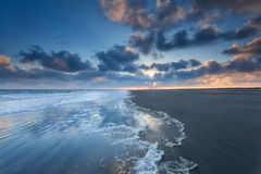 Alba sulla costa del Mare del Nord Immagine Stock Libera da Diritti