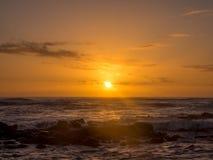 Alba sulla riva orientale di Kauai Fotografie Stock Libere da Diritti
