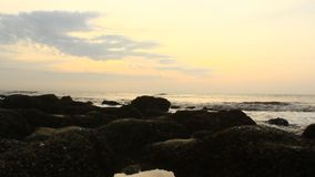 Alba sulla spiaggia video d archivio