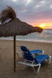 Alba sulla spiaggia Immagine Stock Libera da Diritti