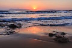 Alba sulla spiaggia Fotografia Stock Libera da Diritti
