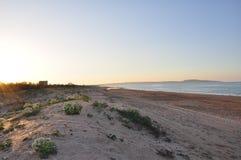 Alba sulla spiaggia Immagine Stock