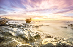 Alba sulla spiaggia di Cothanh Fotografia Stock