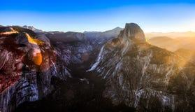 Alba sulla valle di Yosemite Fotografie Stock Libere da Diritti