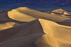 Alba sulle dune di sabbia piane del Mesquite Fotografie Stock