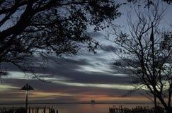 Alba Titusville Florida con la vista di Cape Canaveral Fotografia Stock
