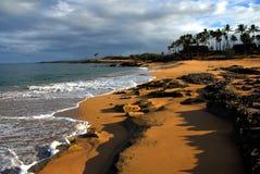 Alba tropicale della spiaggia Fotografia Stock Libera da Diritti