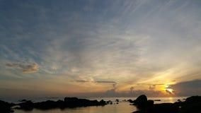 Alba a Turi Beach Resort fotografie stock