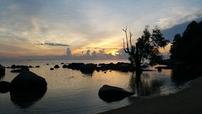 Alba a Turi Beach Resort Fotografie Stock Libere da Diritti