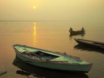 Alba/Varanasi di Gange Fotografia Stock