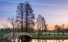 Alba variopinta in parco Fotografia Stock Libera da Diritti