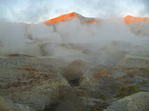 Alba vulcanica Immagine Stock