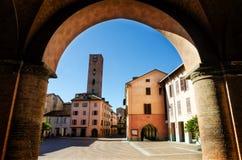 Alba Włochy, piazza Risorgimento obrazy royalty free