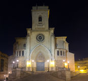 Albacete Cathedral  in night. Spain Royalty Free Stock Photography