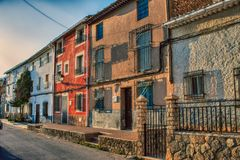 Albacete village houses. In the mountains of Spain Stock Photo