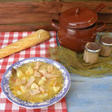 Albacore and potatoes spanish stew Royalty Free Stock Photo