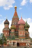 Albahacas catedral, Moscú del santo Foto de archivo libre de regalías