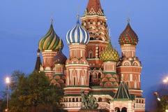 Albahacas catedral, Moscú del santo Imagen de archivo