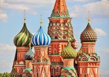 Albahacas catedral, Moscú, Rusia del santo Foto de archivo libre de regalías
