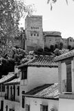 Albaicin和阿尔罕布拉宫 库存图片