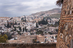 The albaicin. View of granada, from the top of the alhambra castle Stock Photos
