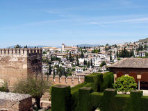 Albaicin from the Alhambra Royalty Free Stock Photography