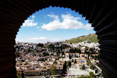 Albaicin from Alhambra, Granada Spain Royalty Free Stock Images