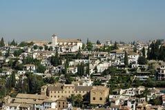 Albaicin de Alhambra Imagen de archivo libre de regalías